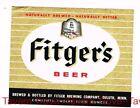 Unused 1950s MINNESOTA Duluth FITGER'S BEER 12oz Label