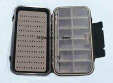 Riempimento Flurocarbon Mill FLY BOX Clearview 110x85x19mm Small può contenere fino a 77 MOSCHE