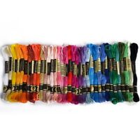 36 skeins of thread Multicolored For Embroidery Cross Stitch Knitting Brace F8H7