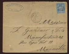 ALGERIA FRANCE 1887 15c SOLO COVER