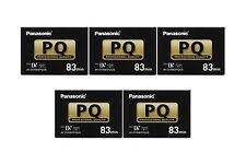 5 Panasonic GL2 Pro 83 minutes Mini DV tape for DVC30 DVC60 DVC62 DVC80 DVX100