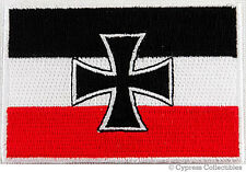 GERMAN NAVY WWI JACK FLAG iron-on patch CROSS GERMANY embroidered CROSS
