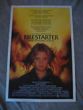 Firestarter 1984 Steven King Drew Barrymore Locklear One Sheet Poster EX+ C 8.5
