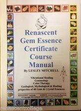 New GEM ESSENCE MANUAL Paperback A4 Book Vibrational Healing, Crystal Elixers