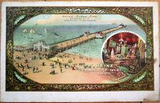 1910 Heinz Pickle Advertising Postcard: Ocean Pier, Atlantic City, NJ