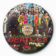 The Beatles Sgt Peppers Logo 25mm Button Pin Badge Official McCartney Lennon Ret