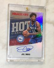 76ers JOEL EMBIID AUTO Panini NBA Hoops #24/25! Hot Signatures 2017-18 Autograph