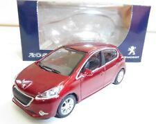 """Peugeot 208 5 Portes Rouge 1/64 """"3 Inche"""" Diecast NOREV Produit NEUF !!"""