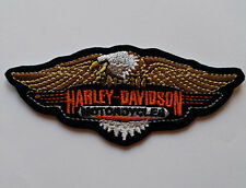 Harley Davidson Motorcycle Bikers Embroidered Sew/Iron On Patch Patches 10x4cm