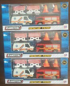 Rescue Teamsterz Kids Vehicle Toy Emergency Set Birthday BRANDED QUALITY TOYS UK
