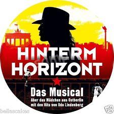 Essbar Tortenaufleger Hinterm Horizont Udo Lindenberg NEU Karte musical ticket