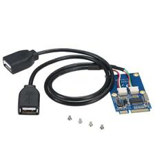 Mini Pci-E Express Pcie to Dual Usb 2.0 Converter Adapter Expansion Card W2V9