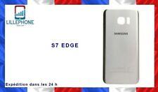 Cache batterie vitre pour SAMSUNG GALAXY S7 EDGE G935 adhésif SILVER ARGENT