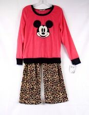 Disney Mickey Mouse Women's Fleece Pajamas Large Pink MK080JLLZA 438G