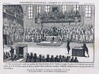 Louis 16 à l'assemblée Nationale 1790 Constitution Révolution Française Nation