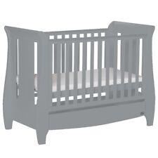 Tutti Bambini Katie Mini Sleigh Cotbed- Cool Grey - JAN SALE