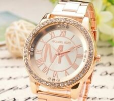 Montre MK Or Dorée Swarovski Luxe Strass Cristal Femme Gold Watch Woman Lady