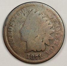 1871 Indian Head Cent.  Good.  126106