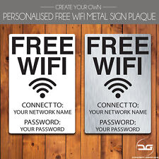 Free WIFI Custom Personalised Cafe Pub Bar Hotel Business Metal Plaque Wall Sign