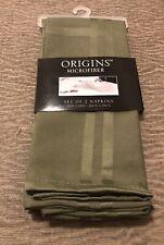 "Origins Microfiber Napkins in Peridot Olive (Set of 2) 19"" X 19"" 100% Polyester"