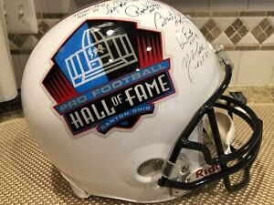 NFL Hall of Fame REPLICA Full Size Helmet Signed by 20 Players