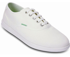 Crocs Lopro Canvas Plim Sneaker Men Shoe - White - Size AU 8 - New