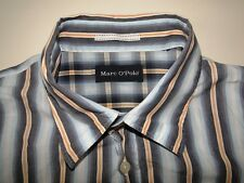 Marc O´Polo Slim Fit Herren Hemd Langarm Blau/Orange Gestreift Gr. XL