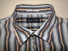 Marc O´Polo Slim Fit Herren Hemd Langarm Blau/Orange Gestreift Gr. XL
