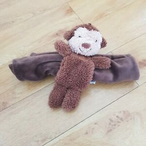 Jellycat Nugget Monkey Soother Comforter Blanket Blankie Brown Retired