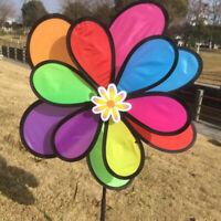 2xGarten Deko Windmühle Windrad Windräder Frühling Garten Gartendeko Blume Biene