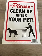 8.5x12 Clean Pet Sign - Pack of 8