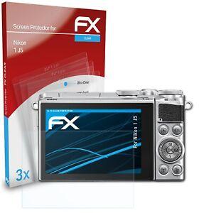 atFoliX 3x Displayschutzfolie für Nikon 1 J5 Schutzfolie klar Folie