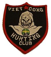 VIET CONG HUNTING CLUB PATCH REPUBLIC OF VIETNAM GRIM REAPER