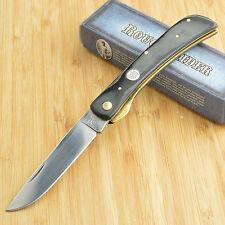 Rough Rider Black Micarta 440 Stainless Linerlock Work Knife RR360