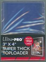 "(10) ULTRA PRO 3"" X 4"" CLEAR 180 PT SUPER THICK TOPLOADERS (PACK OF 10)"
