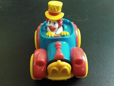 RONALD MCDONALD MCDONALDS TOY PUSH CAR 1989 J7