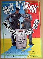 Men At Work - Charlie Sheen - Emilio Estevez - A1 Filmposter Plakat (x-223