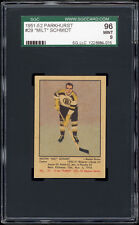1951-52 Parkhurst #29 Milt Schmidt RC (HOF, Boston Bruins) SGC 96 MINT