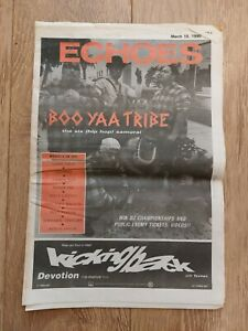 ECHOES MAGAZINE 10 MARCH 1990 BOO YAA TRIBE CASH CREW NEMESIS CANDY FLIP GRIFFIN