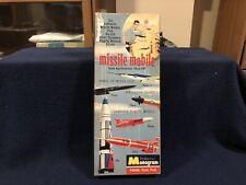 "RARE VINTAGE1959 MONOGRAM MISSLE MOBILE ""SHOW OFF"" 6 MISSLE COMPLETE AND UNBILT"