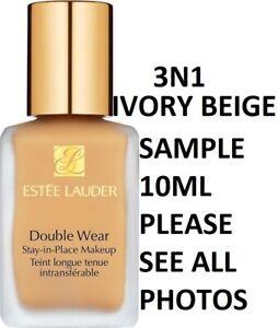 Estee Lauder Double Wear Stay in Place Foundation 3N1 IVORY BEIGE Sample 10ml