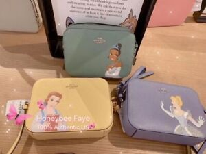 Disney X Coach Mini Camera Bag Cinderella/ Belle/ Tiana,Two Disney Items $20 Off