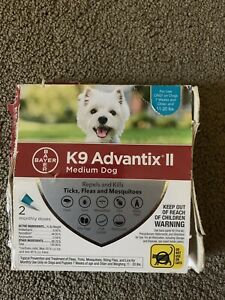 K9 Advantix II Flea and Tick Prevention for Medium Dogs 11-20 Pounds 2 pack
