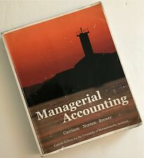 Managerial Accounting by Garrison, Noreen and Brewer, 14 edition, custom for UMa