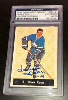 DAVE KEON SIGNED TORONTO MAPLE LEAFS 1993 PARKHURST REPRINT ROOKIE CARD PSA/DNA