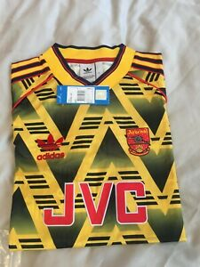 Arsenal Retro  Vintage Bruised Banana away Football Shirt Size L, BNWT 91-93