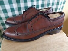 FRENCH SHINER VINTAGE WINGTIP BROGUE SZ 10.5 B Narrow MADE IN USA
