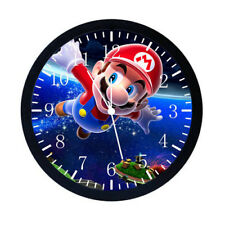 Super Mario Black Frame Wall Clock Nice For Decor or Gifts W04