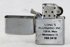 Vintage Reliance-Wind Proof Style-Stainless Pocket Flint/Fluid Lighter-w/Advert