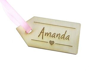 Personalised Wedding Table Place Name Setting Decoration Wooden - Pack of 10